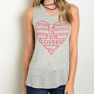 🆕 LA is for Lovers Heart Tee Tank ❤️